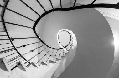 Spiraled staircase in castle Zdar nad Sazavou, Czech Republic