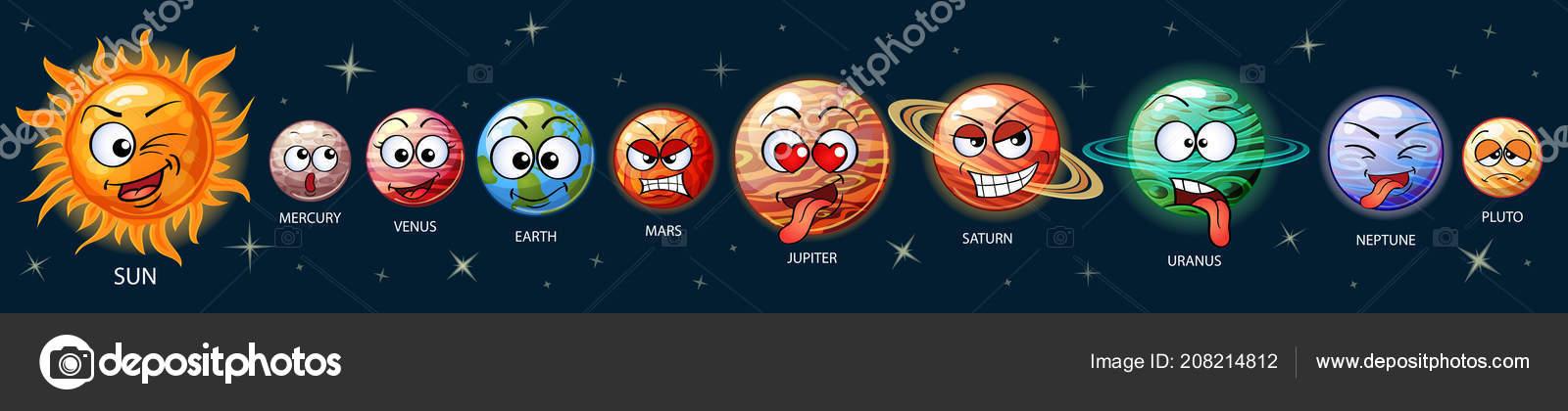 симпатичные Emoji планет солнечной системы солнце меркурий