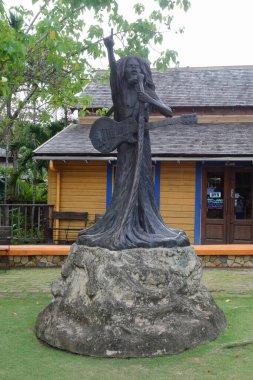 Bob Marley statue in the city of Ocho Rios Jamaica 2017