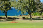 Golfové hřiště na populární Kapalua, Maui, Havajské ostrovy. Nádherný výhled ze všech oblastí této krásné havajské golfové středisko.
