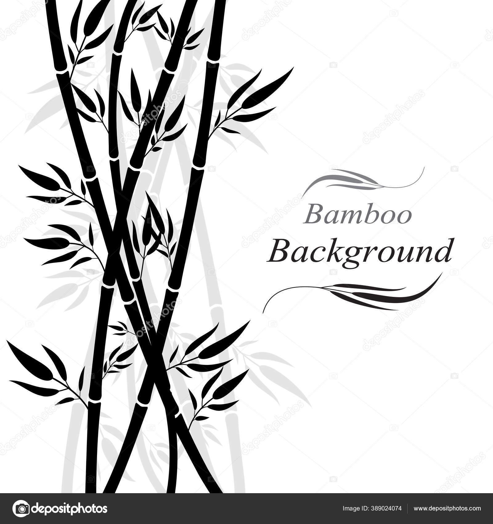 siluet rumput hutan bambu pada desain seni latar belakang putih stok vektor c lufi eak hotmail com 389024074 depositphotos