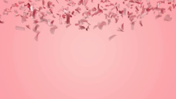 Alá tartozó, a pasztell rózsaszín háttér absztrakt piros vagy rózsaszín arany konfetti