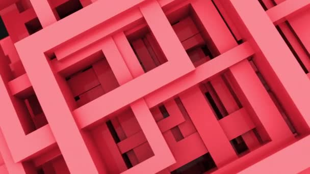 Abstraktní 3D tvary čar a čtverců s různými barvami. 4 KB smyčka vykresluje animační záběry.