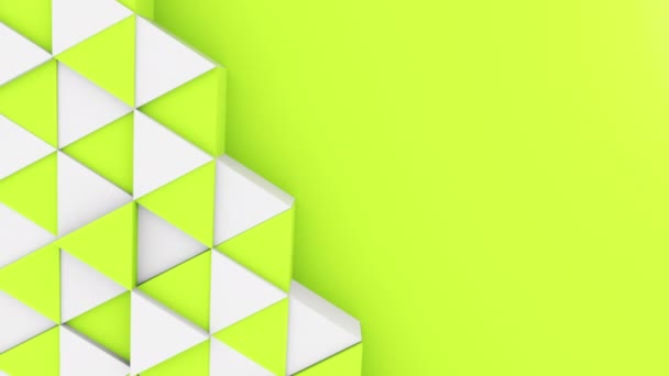 Abstraktní 3D trojúhelník obrazce pozadí s různými barvami v horním zobrazení. Nastavit cyklus animace 4k pro animaci.