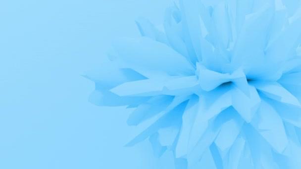 Abstract fractal 3d shape texture liquid object. 4K seamless loop animation.