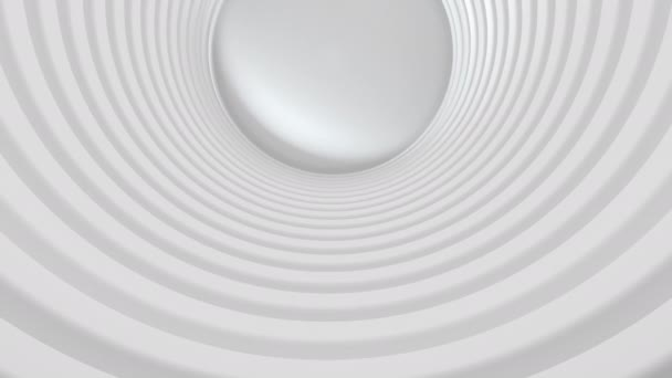 Abstract 3d circle round shape corridor with light effect flying. 4K animation rendering footage. Set of different colors.