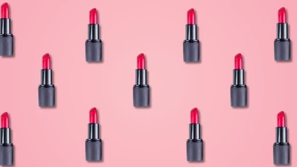 Absztrakt szín animáció a rúzs rózsaszín pasztell háttérben. 4k varrat nélküli hurok