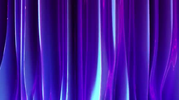 3d render of liquid purple and blue material.Abstract backgrond animation. Wave and ripples ultraviolet horizontal lines. 4k seamless loop.