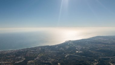 aerial  photography of marbella, puerto banus, and san pedro town in the south of spain.  all shore visible