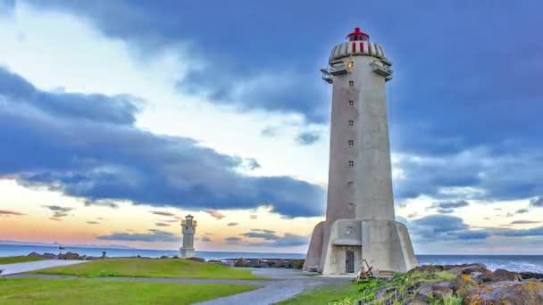 Zeitraffer-Leuchttürme in Island