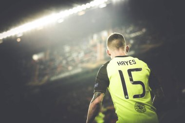VALENCIA, SPAIN - FEBRUARY 21: Hayes during UEFA Europa League match between Valencia CF and Celtic FC at Mestalla Stadium on February 21, 2019 in Valencia, Spain