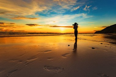 Beautiful sea landscape ocean natural during sunset Outdoor natural background