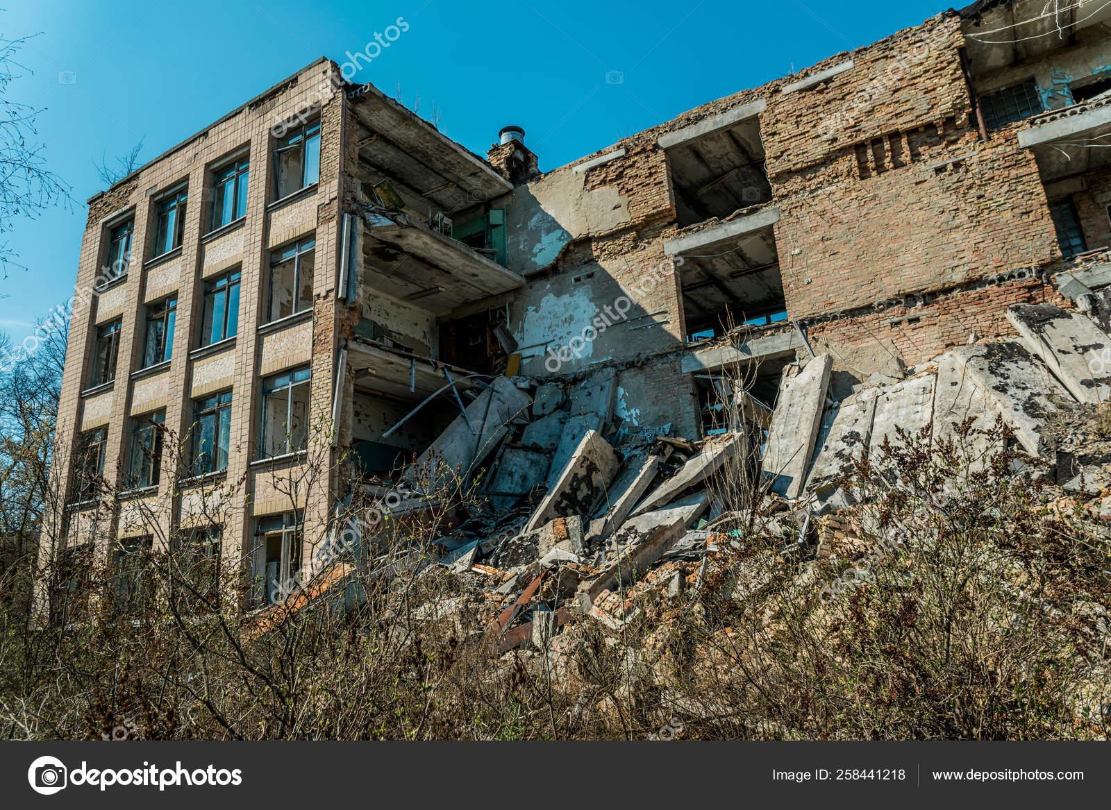 Old Abandoned Hospital City Pripyat Ukraine Consequences