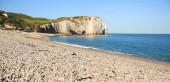 Photo Etretat view of the beautiful coastline and alabaster cliffs