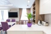 Photo Modern kitchen design interior