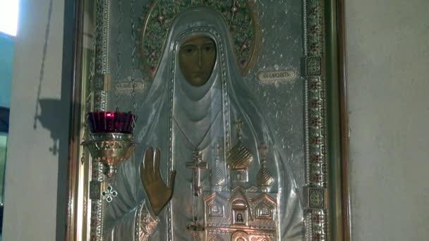 Ikona Svatá Alžběta v klášteře nových mučedníků na místo smrti Romanov