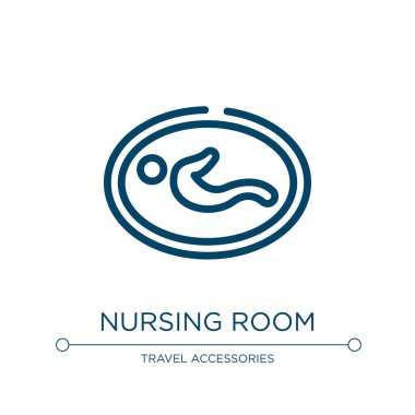 Nursing room icon. Linear vector illustration from airport collection. Outline nursing room icon vector. Thin line symbol for use on web and mobile apps, logo, print media.