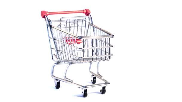 Otočný vozík Supermarket, tlačný vozík, nákupní vozík, v jiném stylu v mé galerii. Video 4K