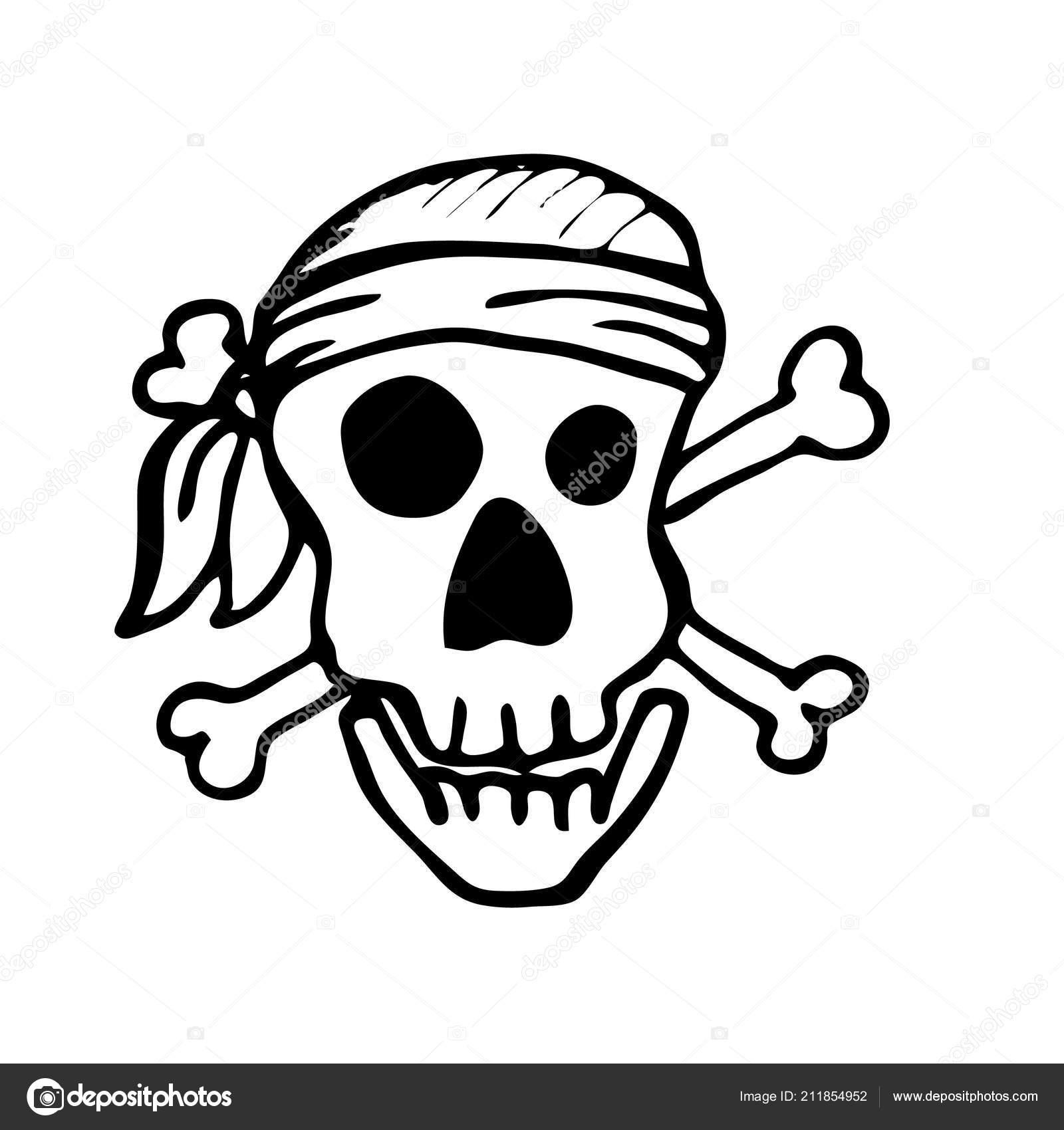 Calavera Pirata Elemento Diseño Para Decoración Fiestas Infantiles