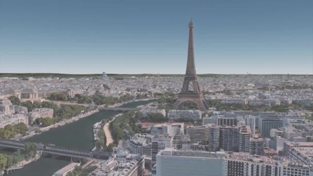Architektura v okolí Eiffelovy věže v centru Paříže