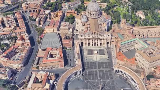 Nachbarschaft der St.-Petrus-Kirche in Vatican aus einer Flughöhe in 3D