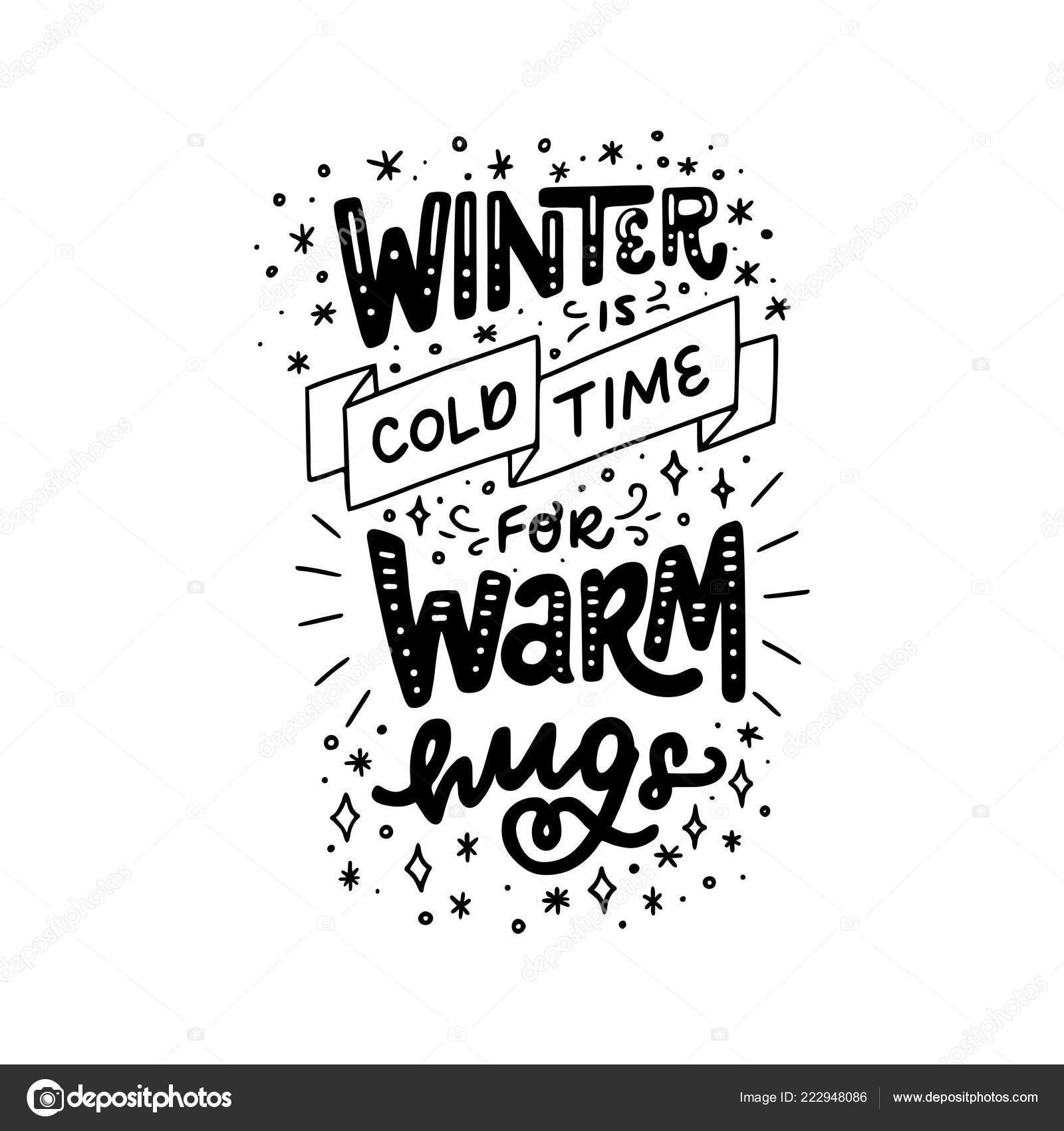 Festivo Navidad Año Nuevo Mano Frase Letras Invierno Frío