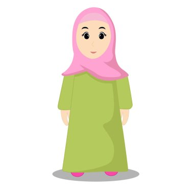 Vector illustration of muslim kids. Great for posters or more