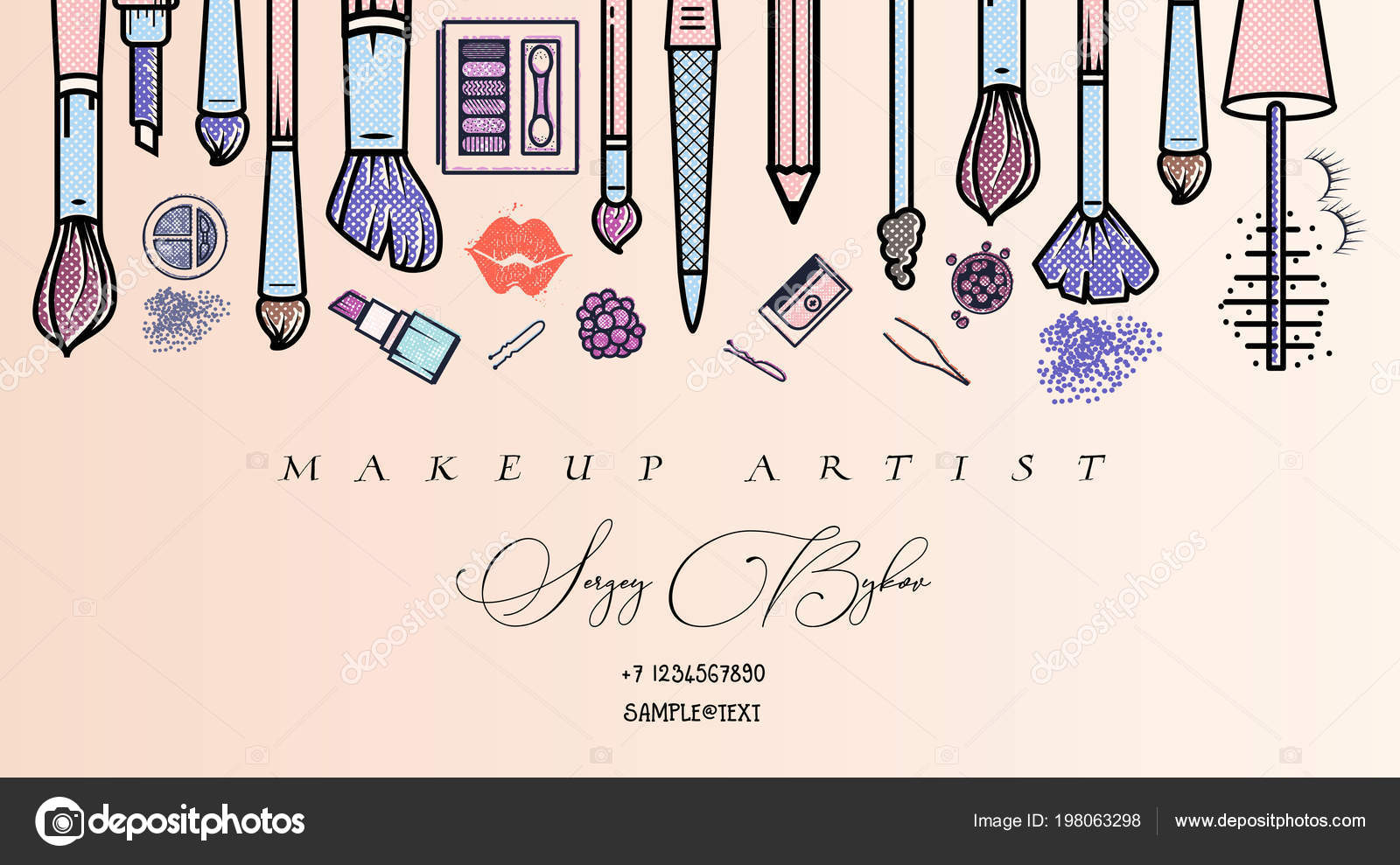 Makeup Artist Banner Beauty Salon Fashion Trends Background Business Concept Stock Vector C Zao4nik 198063298
