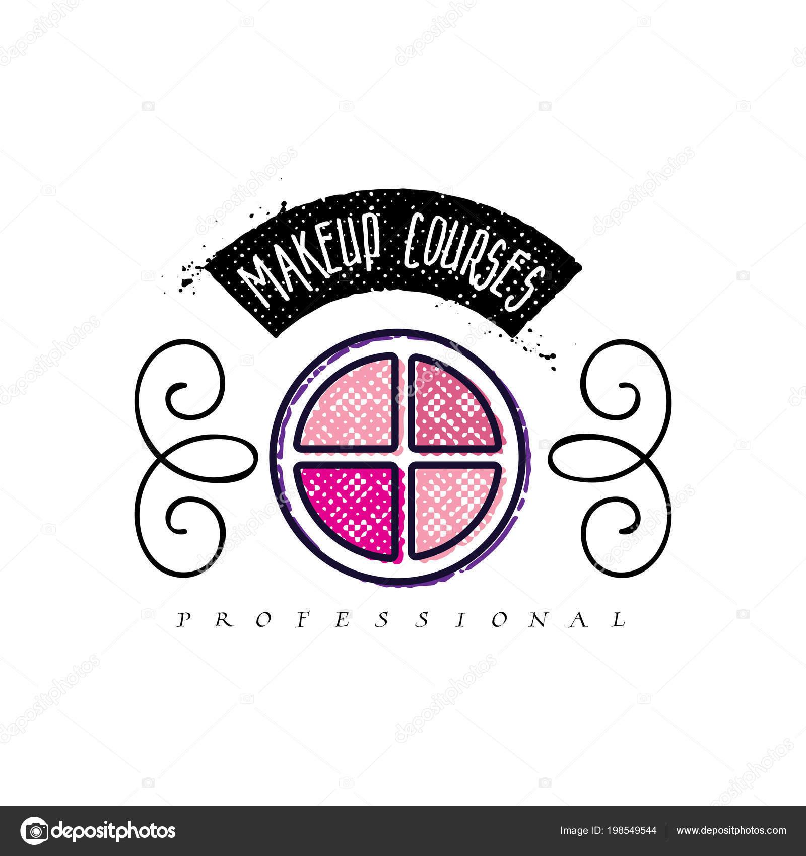 Logo De Cosmtiques Manuscrit Lettrage Studio Maquillage Des Lments Web Pour Un Blog Site Carte Visite Votre Conception Vecteur