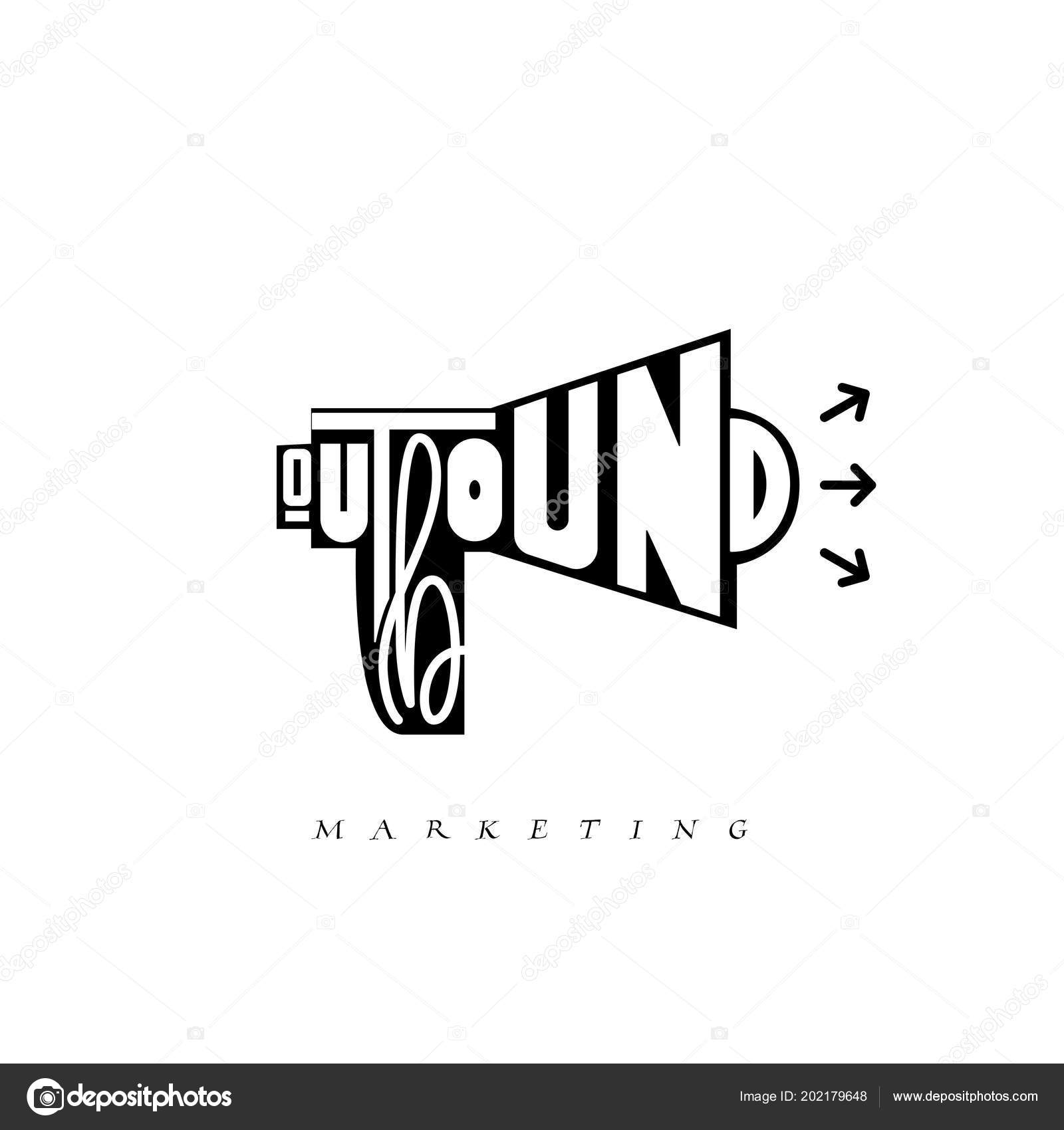 outbound marketing concept vector business illustration offline or interruption marketing background stock vector c zao4nik 202179648 depositphotos