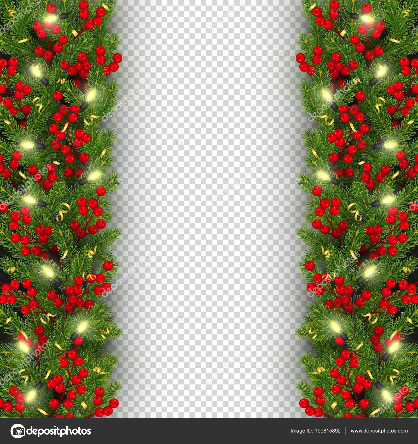 christmas and new year banner template realistic branches of christmas tree garland with glowing lightbulbs holly berries serpentine festive background