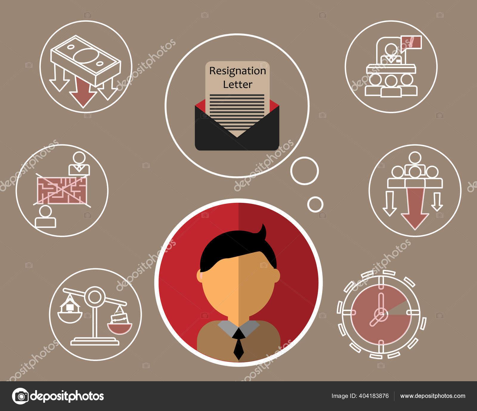 Carta de renuncia Imágenes Vectoriales, Ilustraciones Libres de Regalías de  Carta de renuncia | Depositphotos®