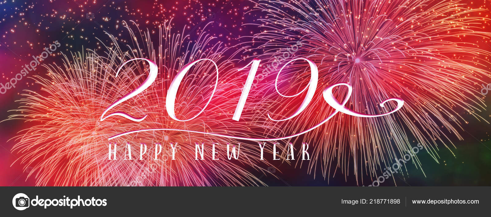 new year holiday 2019 background banner fireworks seasonal quote scales stock photo
