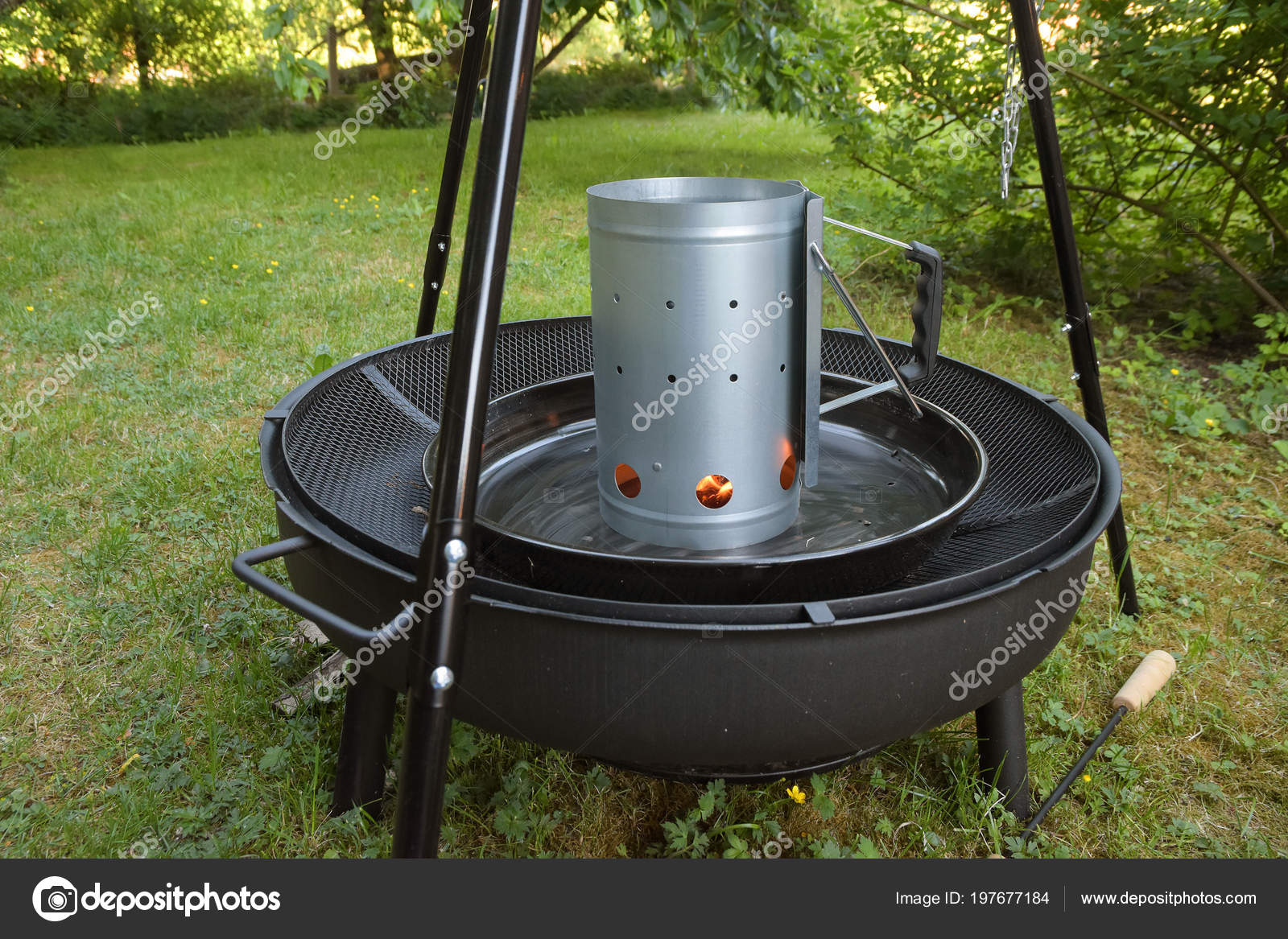 Asadores Colgantes Encendedor Para Chimenea Carbon Barbacoa - Chimenea-jardin