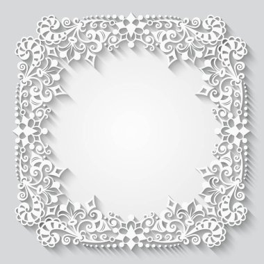 Vector abstract ornamental nature vintage frame.