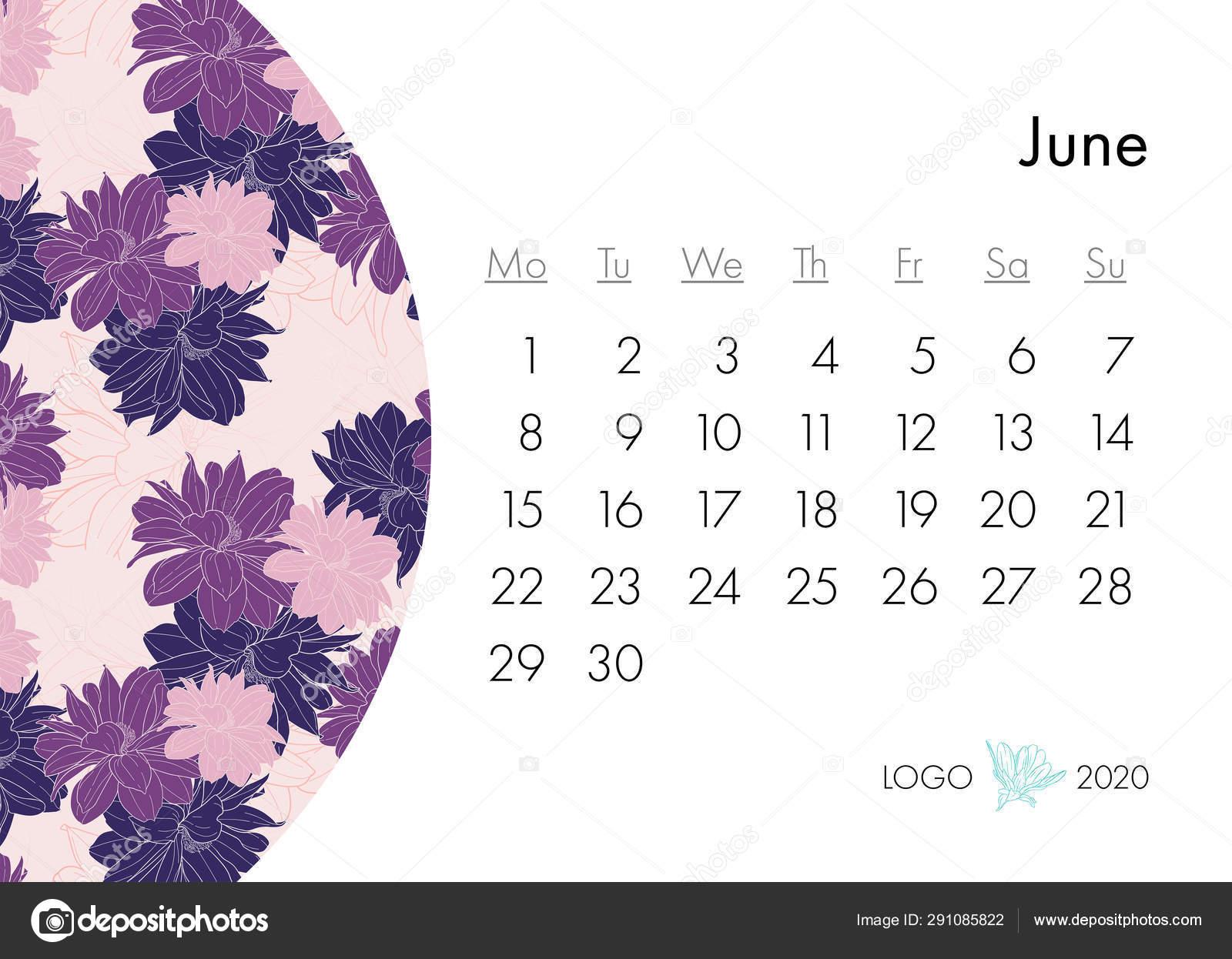 Calendario Moda 2020.Calendario Floral 2020 Con Estampado De Moda Planta En Flor