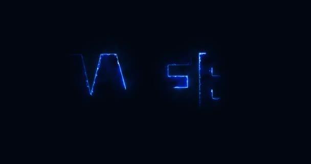 Web. Elektrický blesk. Logotyp. Internet