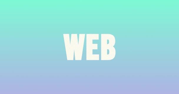 Logotyp webového návrhu. Animace hladkého textu.