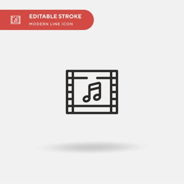 Soundtrack Simple vector icon. Illustration symbol design template for web mobile UI element. Perfect color modern pictogram on editable stroke. Soundtrack icons for your business project