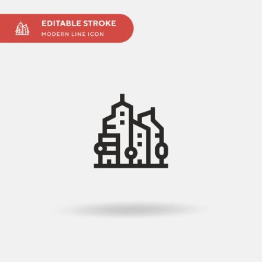 Urbanity Simple vector icon. Illustration symbol design template for web mobile UI element. Perfect color modern pictogram on editable stroke. Urbanity icons for your business project