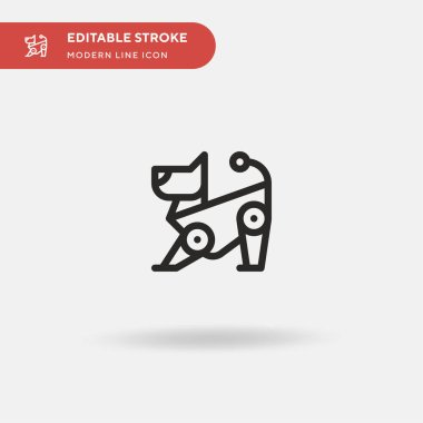 Robot Simple vector icon. Illustration symbol design template for web mobile UI element. Perfect color modern pictogram on editable stroke. Robot icons for your business project
