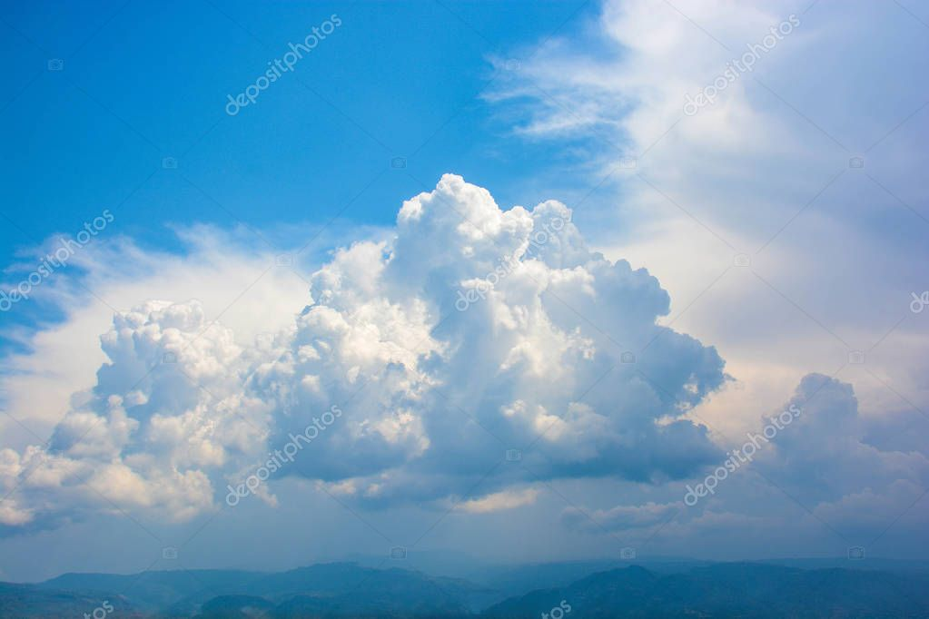 background of bright clouds of light