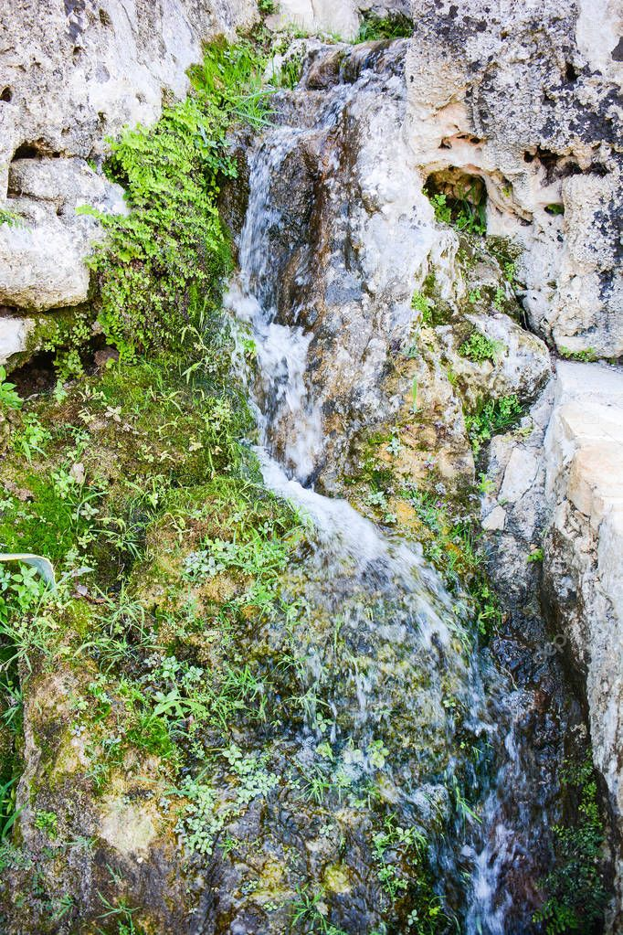 streams and water sources in the mountains