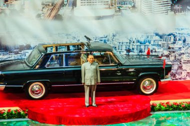 ShenZhen, China - November 15, 2014: Deng Xiaoping wax figure at Shenzhen museum. He was the Chinese revolutionary, statesman and the paramount leader of the People's Republic of China from 1978-1989.