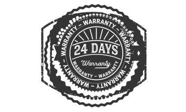 24 days warranty icon stamp badge icon