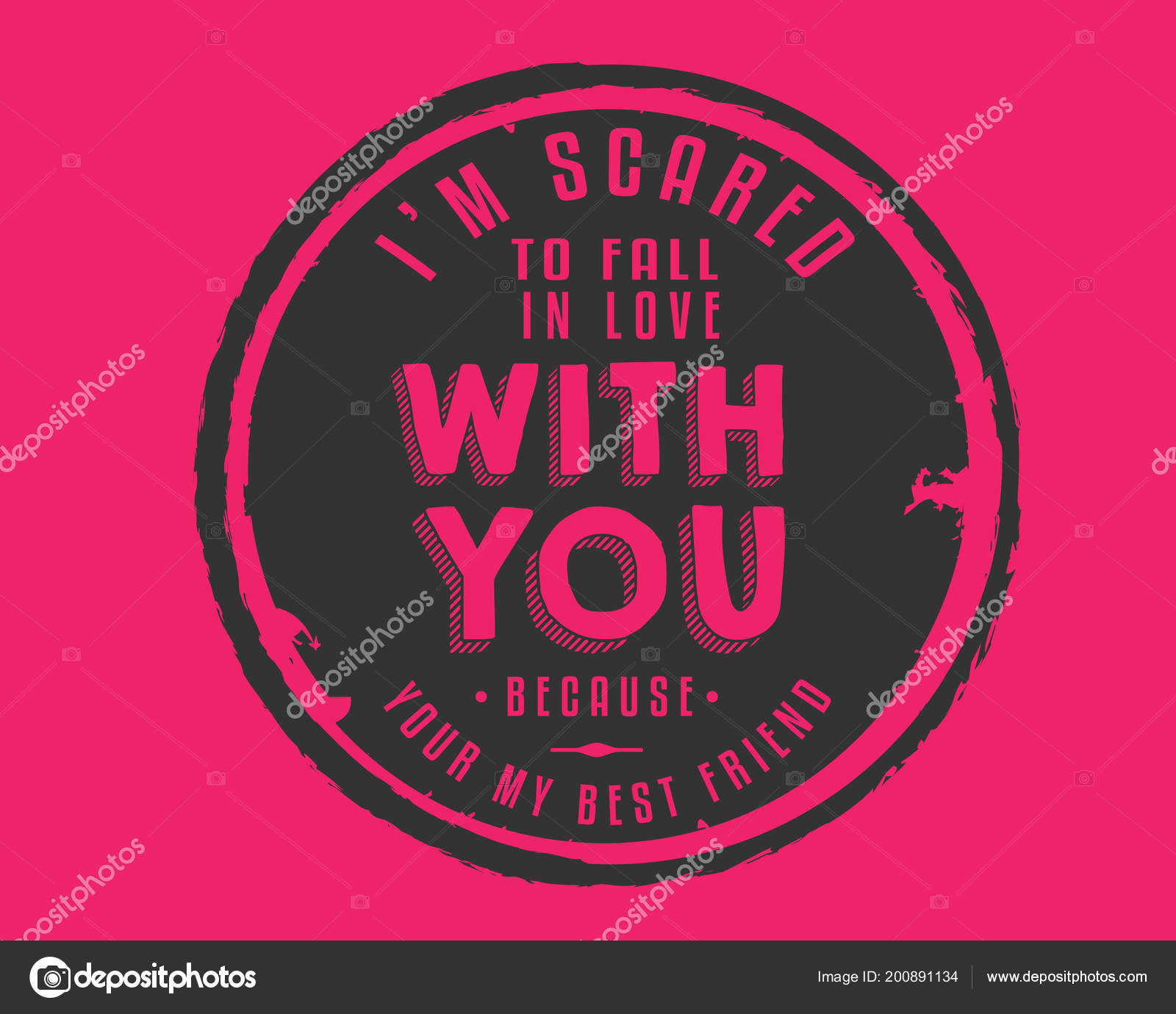 Scared Fall Love You Because Your Best Friend Stock Vector