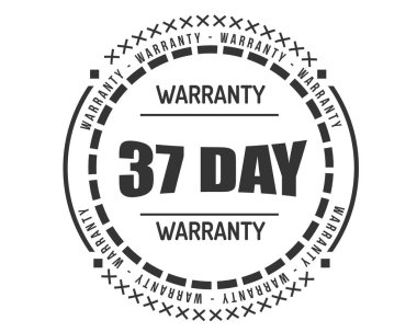 37 days warranty icon stamp badge icon