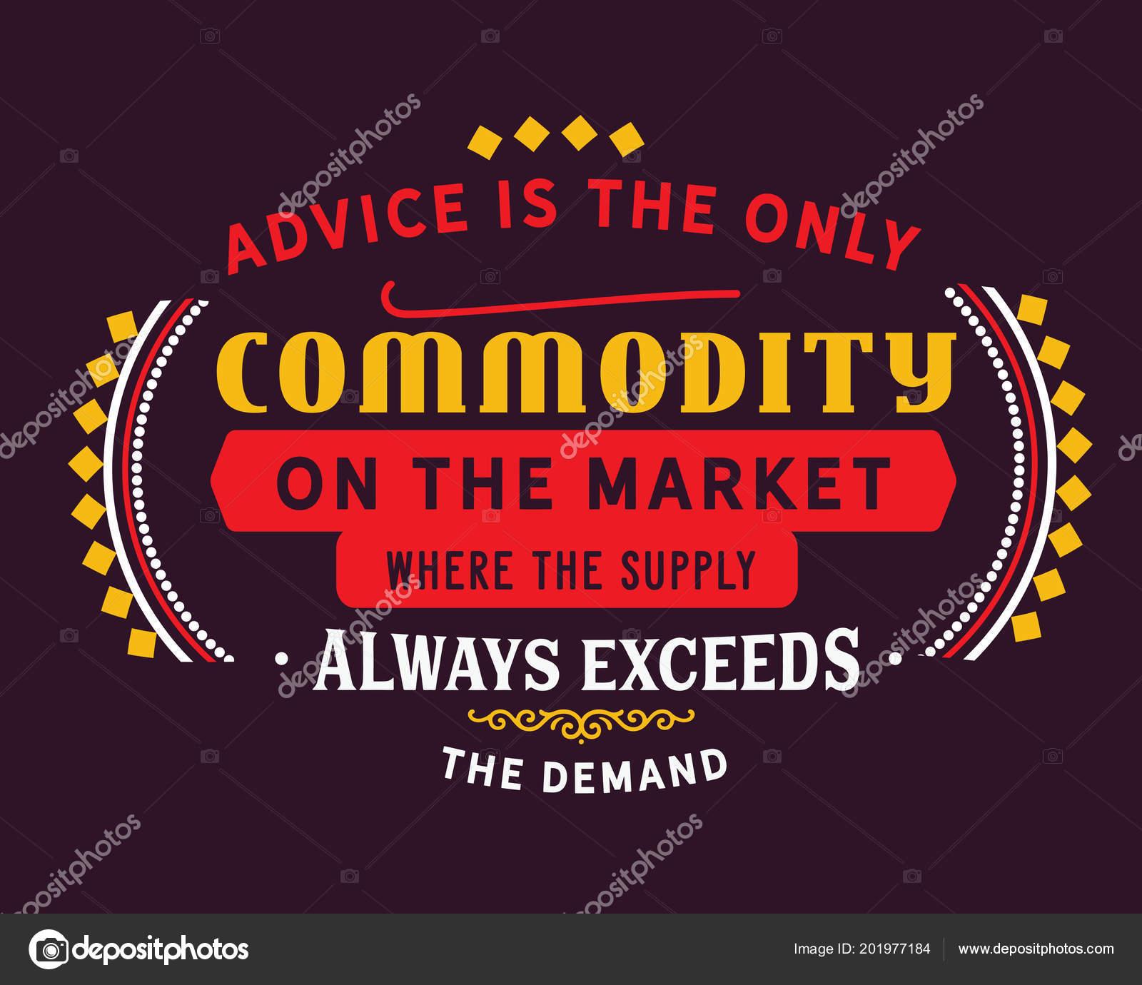 demand of commodity