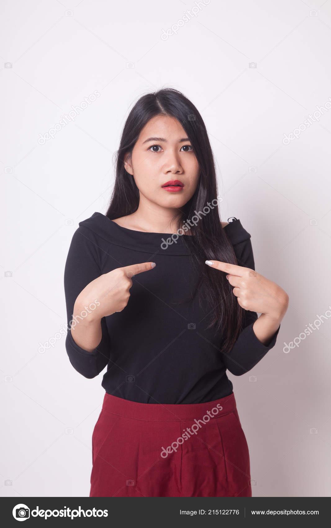 Zeigen Jung Mädchen Asiatisch Sie Asiatisch Thai
