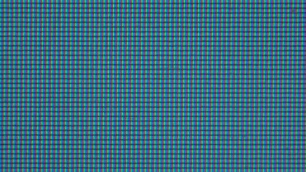 Extrémní makro v pixelech monitoru přenosného počítače